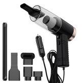 Aspirador de pó de carro 120W 3 em 1 4500Pa Potente sucção úmido seco duplo uso de baixo ruído LED Filtro de dupla camada de iluminação para carro doméstico