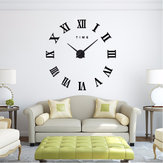 Modern Design DIY Large Decorative 3D Wall Clock Reloj Pared Adhesivo Roman Numerals Mirror Big Clocks Stickers Watches