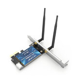 EDUP 1200M Dual-band PCI-E Wireless Network Adapter 5G WiFi bluetooth 4.1 2 in 1 Expansion Network Card EP-9620