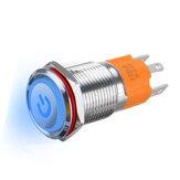 3000W 3-контактный металлический фиксатор с подсветкой LED Переключатель кнопочный переключатель Водонепроницаемы Самоблокирующийся