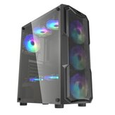 DarkFlash Aquarius Mesh Gaming Computer Caso Chassis ATX / M-ATX / ITX Painel acrílico