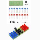 Κιτ διδασκαλίας 10pcs DIY Two Color LED Thunderbolt Flash Kit