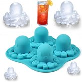 Funny New Tricks Party Drinking Silicona Bandeja para molde de hielo 3D Octopus DIY Moldes para helado de hielo Ice Cube Bandeja de molde Ice Lattice