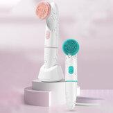 Lavadora elétrica facial 2 em 1 Bakeey Escova Silicone Máquina facial à prova d'água poros de limpeza profunda