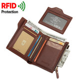 Men Anti-Theft RFID Blocking Secure Wallet 6 Card Slots Protective Short Wallet