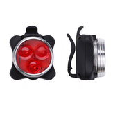 2PCS/Set USB Rechargeable Bicycle Tail Light + Front Light Mini Flash Taillight Safety Warning Lights Cycling MTB Accessories