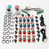 DIY Arcade Kit Kontrol USB ke PC Joystick LED Push Button Nol Delay Keyboard Encoder Mikro Beralih untuk Arcade Game