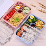 5 kratek Mikrofalówka Ogrzewanie Pudełko na lunch Pudełko Bento Pojemnik do przechowywania owoców Owoce Lodówka Świeże pudełko Różowy / Niebieski