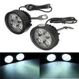 12V Universal Motocicleta LED Retrovisor com espelho Farol Motor Bike Fog Light