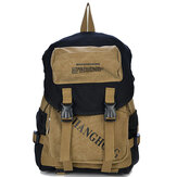 Men Women Letters Print Canvas Backpack Casual School Bag