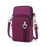 Donne Nylon Crossbody resistente all'acqua Borsa