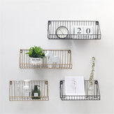 Iron Wall Shelf Mounted Storage Rack Organization Bedroom Kitchen Home Kid Room DIY Decoration Holder