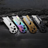 4-in-1 Multi Folding Utility Knife Mini Portable EDC Survival Tools Hexagonal Wrench Opener Ruler Outdoor Camping Travel
