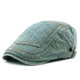 Мужчины Женское Повседневная вымытая джинсовая пикантная кепка Beret Шапка
