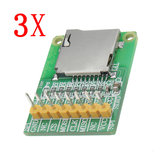 3pcs 3.5V / 5V Micro SD Card Module TF Card Reader SDIO/SPI Interface Mini TF Card Module