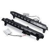 LED White + Amber DRL Światła do jazdy dziennej Włącz lampę sygnalizacyjną Parę dla Audi Q7 2006-2009