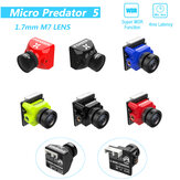 Foxeer Micro Predator 5 Racing FPV-camera 19 * 19 mm 1000TVL 1,7 mm M8 Lens 4 ms Latency Super WDR