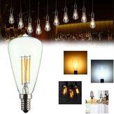 Kingso AC220V E14 4 W LED Filament COB Ampul Edison Retro Vintage Ev Dekor için Lamba