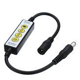 DC5-24V 4 Keys Dimmer Controller DC Connector for Single Color LED Strip Light