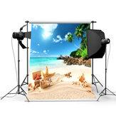 3x5ft Summer Beach Scene Tema Fotografia Sfondo Foto Sfondo Studio Prop