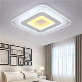 52W 64W 3 Colores Ultrafino LED Luz de Techo Moderno Regurable Pantalla Decorativa para la Sala de Estar