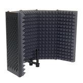 5 Panel Mikrofon İzolasyon Kalkanı Katlanabilir Canlı Yayın Stüdyosu Kayıt Absorbe Etme