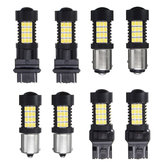 Pair 447LM 4.4W White LED Car Brake Backup lights Turn Bulb Lamp 3157 7443 1156 1157 2835
