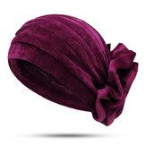 KadınEtnikPleucheFlanelBüyükÇiçek Kabarık Kafa Bandı Kapağı