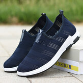 Men Hollow Out Breathable Fabric Soft Bottom Slip On Comfy Sports Casual Hiking Shoes