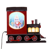 Christmas Party Home Decoration Hanging Snowfall Music Locomotive Toys For Kids Children Gift