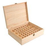 68 Slot Essential Óleo Madeira Caixa Organizador Large Wood Storage Caso Holds