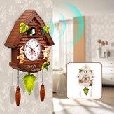 Nowoczesny kwarcowy zegar z kukułką Domowy salon Wiszące zegary ścienne Dekoracja