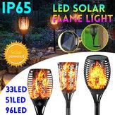33/51/96 LED solaire jardin flamme lumière étanche scintillement LED torche paysage décor lampe