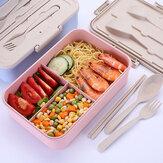 3 شبكات الميكروويف التدفئة الغداء مربع بينتو مربع الغذاء الفاكهة تخزين الحاويات الثلاجة الطازجة مربع الوردي / الأزرق