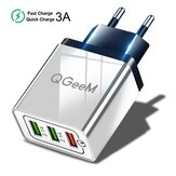 QGEEM QG-CH04 27 W 3 USB Travel Wall Charger Adapter QC3.0 Snel Opladen Voor iPhone XS 11Pro Huawei P30 P40 Pro MI10 Note 9S S20 + Note 20