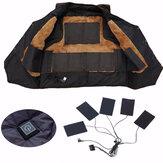 USB Şarj Edilebilir Ceket Isıtma Pedi Outdoor Themal Sıcak Kış Isıtma Yelek Pedleri DIY Isıtmalı Giyim için