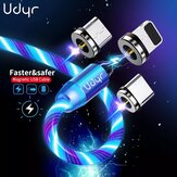 Udyr Magnetic Flowing Light LED Type-C / Cabo Micro USB para iPhone 12 Pro Max para Samsung Galaxy Note S20 ultra para Xiaomi Mi 10 POCO X3 NFC