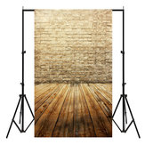 3x5FT Vinyl Brown Brick Wall Wood Floor Photography Backdrop Background Studio Prop