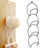Hats Clothes Tie Interlink Holder Wire Stackable Storage Rack Kitchen Organizer Door Wall Hooks
