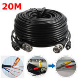 65Ft 20M Security Camera Cable Video Power Extension Wire CCTV DVR BNC RCA Cord