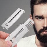 Peigne à barbe pour hommes portable en acier inoxydable Moustache masculine Shav