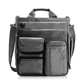 Men Nylon Large Capacity Crossbody Bag Multi-functional Business Laptop Tablet Handbag