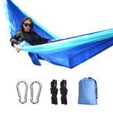 IPRee® 2 Person Parachute Fabric Camping Hammocks Outdoor Furniture Lightweight Hammock Hang Bed Chair 270*140 CM