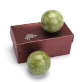 Çin Sağlık Egzersiz Stres Jade Taş BAODING Topları Gevşeme Tedavisi 48mm