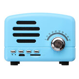 Portable Vintage Rétro Mini Radio FM Sans Fil Bluetooth Haut-Parleur TF Carte USB Charge