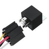 5 sztuk 12 V SPDT przekaźnik samochodowy 5 pinów 5 przewodów z gniazdem wiązki przewodów gniazdo przekaźnika