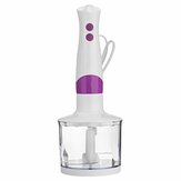 4 in 1 Kitchen 300W 2 Speed Electric Hand Blender Mixer Egg Beater Vegetable Meat Stainless Steel Food Chopper