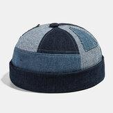 Collrown erkek Ev Sahibi Şapka Yaz Sokak Trendleri Kavun Kap Denim Brimless Şapkas
