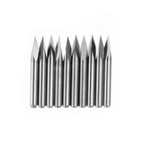 Drillpro 10pcs 3.175mm Shank 30 Degree 0.1/0.2/0.3mm Tip Engraving Bit CNC Tool