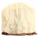 Original Al aire libre Impermeable BBQ Cover Smoker Barbecue Grill Protection Caja con ventana de ventilación de aire